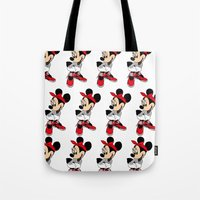 minnie mouse Tote Bags featuring MINNIE MOUSE AJ4 by EA88