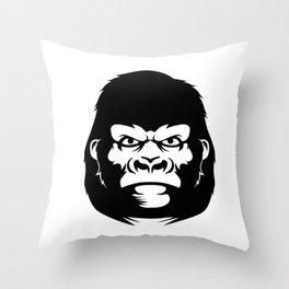 Gorilla face Throw Pillow