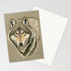 Grey Wolf Portrait Stationery Cards