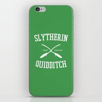 quidditch iPhone & iPod Skins featuring Hogwarts Quidditch Team: Slytherin by IA Apparel