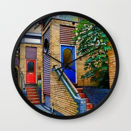 Stairs to Nowhere  -  Greenwich London Wall Clock