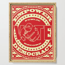 Empower Democracy Red Serving Tray