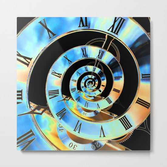 Infinite Time Blue Metal Print