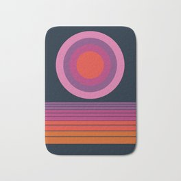 Dope - sunset vibes socal 70s inspired retro vintage abstract sunrise 1970s art Bath Mat