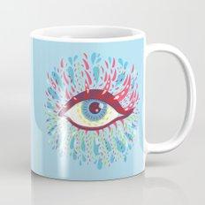 Weird Blue Psychedelic Eye Mug