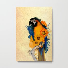 Colorful Parrot Metal Print