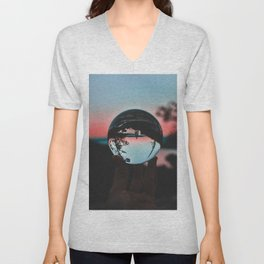 The Crystal Sunset (Color) Unisex V-Neck