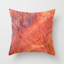 Natural Sandstone Art - Valley of Fire Throw Pillow