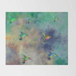 Secret Escape Hummingbird Design Throw Blanket