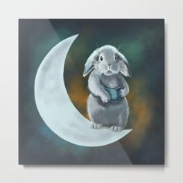 Moon rabbit Metal Print