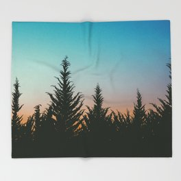 TREES - SUNSET - SUNRISE - SKY - COLOR - FOREST - PHOTOGRAPHY Throw Blanket