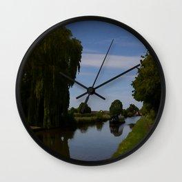 English Canal Scene Wall Clock