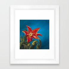 Morning Star Lily Framed Art Print