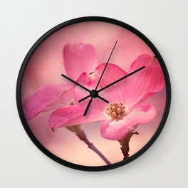 Colors of Spring: Pink Dogwood Wall Clock