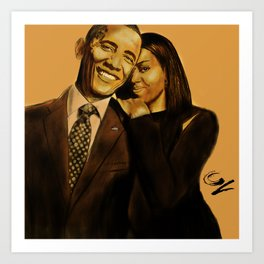 Presidential Love Art Print