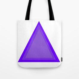 Triangles: Purple on Purple Tote Bag
