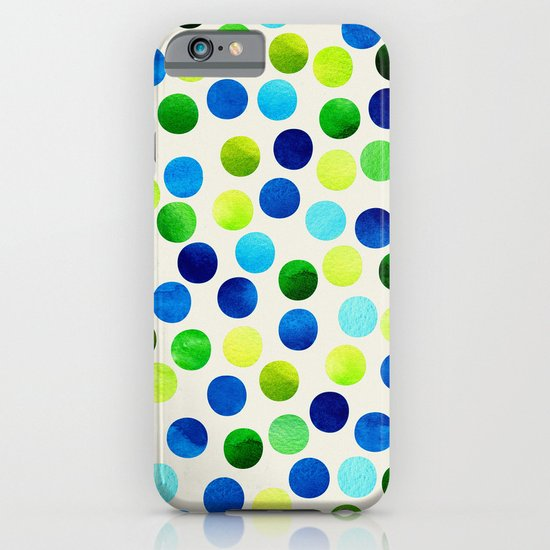 Watercolor Dots_Aqua by Jacqueline and Garima iPhone & iPod Case