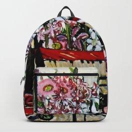 """Basket of Flannel Flowers"" by Margaret Preston Backpack"
