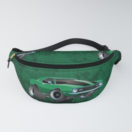 Classic American Muscle Car Cartoon Fanny Pack