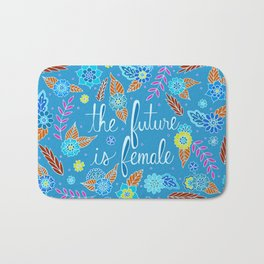 The Future is Female Blue Bath Mat