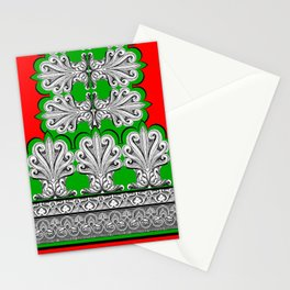 Holiday Frett Panel Print Stationery Cards
