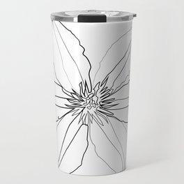 """ Botanical Collection "" - Clematis Flower Travel Mug"