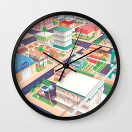 Vector Tropics Wall Clock