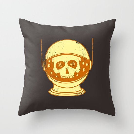 Intergalactic Cotton Buds Throw Pillow