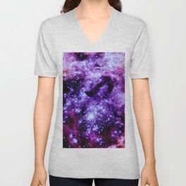 galaXy. Stars Purple Pink Nebula Unisex V-Neck