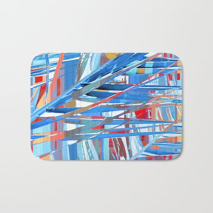 Floral abstract(45). Bath Mat