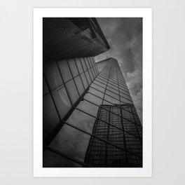 looking up; feeling grey... Art Print