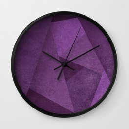 Purple tones Wall Clock