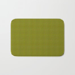 Bright Cats Eye Yellow and Black Hell Hounds Tooth Check Bath Mat