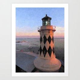 Harry T's Lighthouse Art Print