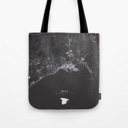 Ibiza City Map  Tote Bag