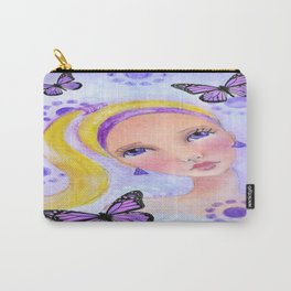 Whimiscal Girl with Pony Tail Carry-All Pouch