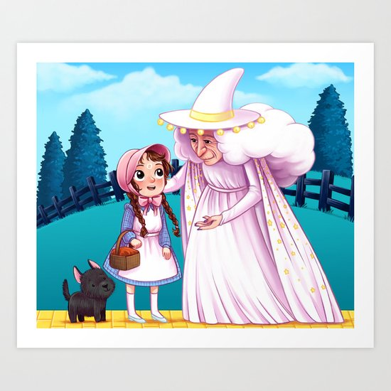 Dorthy and the Good Witch of the North Art Print