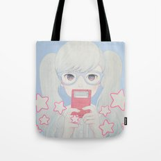 Gamegirl Girl Play with star Tote Bag