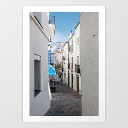 Hostel in Blue - Cadaques, Catalunya Art Print