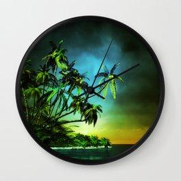 Tropical Islet Wall Clock