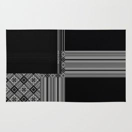 black and white rug patterns. Multiple Black White Geometric Patterns Rug And T