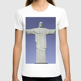 Detailed closeup of the Christ the Redeemer statue in Brazil T-shirt