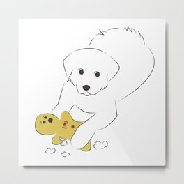 Gingerbread Gets It - Great Pyrenees Humor Metal Print