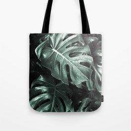 Monstera leaves, Palm Leaf Tote Bag