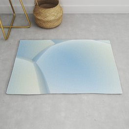 3D abstract sphere blue background Rug