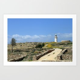 Lighthouse in Paphos Art Print
