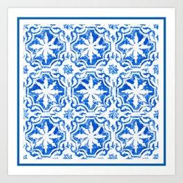 Hampton blue Art Print