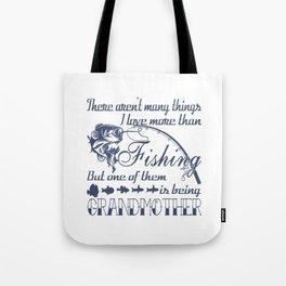 Fishing Grandmother Tote Bag