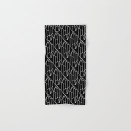 Black Crystal Pattern Hand & Bath Towel