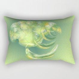 The green Brain Rectangular Pillow